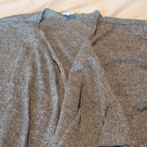 Gray and black  tweed lsuper soft Shirley cardigan